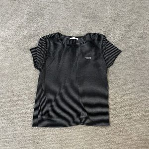 Vans Black and White stripped tee